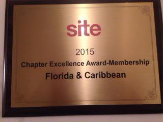 Winner of the Site Global 2015 Chapter Excellence Membership Award